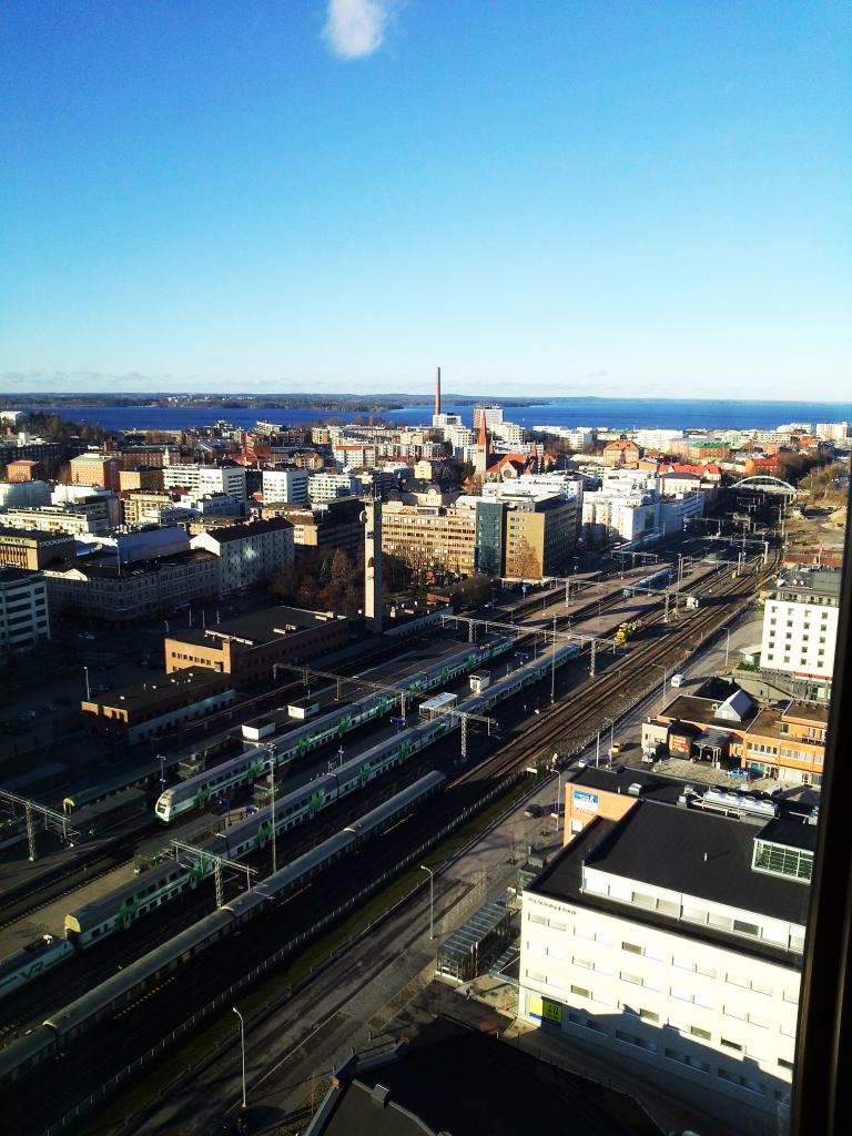 Näkymä Torni hotellin hotellihuoneesta.
